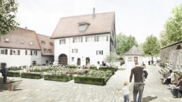 Ortsmitte Nufringen - Pfarrgarten