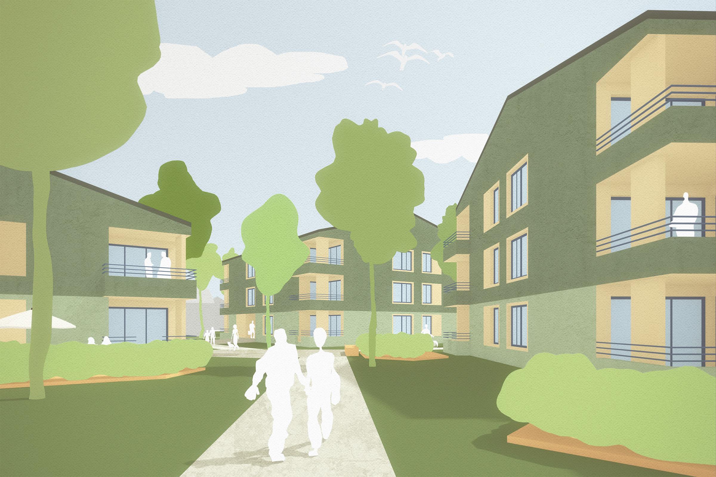 Architekten Ravensburg geförderte wohnungen auf dem schmucker areal utting