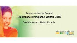 """Auszeichnung für """"Soziale Natur"""" durch Vereinte Nationen"""